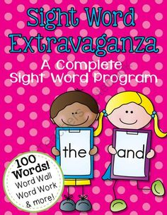 Sight Words and Word Work from ittybittykinders on TeachersNotebook.com -  (226 pages)  - This 226 page packet contains everything you will need to teach your students 100 sight words this year!