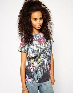 ASOS T-Shirt with Botanical Floral Print
