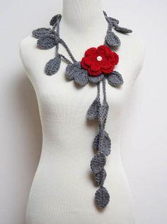 Crochet Scarf Necklace