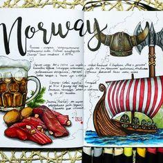 Норвегия...не могла обойтись без темы викингов 😊 люблю читать книги про них и смотреть фильмы/сериалы. Уж простите, как есть, хотелось много всего нарисовать...заболела и сил нет рисовать😞 #sketchmarkersclub #скетчбук #скетчинг #leuchtturm1917 #markers #art_markers  #sketch #sketchbook #art #sketching #скетчмарафон_скетчмаркер #норвегия #дракар