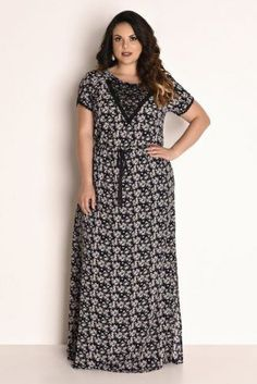 Vestido Plus Size Longo Night Gown Dress, Sexy Night Dress, Night Dress For Women, Vestidos Plus Size, Plus Size Dresses, Plus Size Outfits, Full Figure Dress, Conservative Outfits, Frocks And Gowns