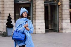 VivaLuxury - Fashion Blog by Annabelle Fleur: PARIS FASHION WEEK BLUES Loewe Puzzle, Puzzle Bag, Loewe Bag, Viva Luxury, Fashion Bloggers, Paris Fashion, Blues, Street Style, Urban Style