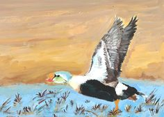 The 2013 Florida Junior Duck Stamp of Amada Oleska, 13, honorable mention in Group 3, grades 7-9. DDWS photo