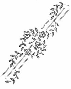 Awesome Most Popular Embroidery Patterns Ideas. Most Popular Embroidery Patterns Ideas. Border Embroidery Designs, Floral Embroidery Patterns, Learn Embroidery, Silk Ribbon Embroidery, Hand Embroidery Patterns, Embroidery Stitches, Machine Embroidery, Flower Embroidery, Bordado Popular