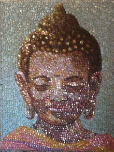Pictures of bottle caps Molly Bee Wright  - Buddha