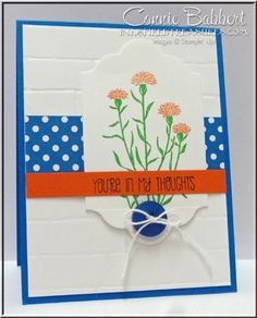 For CCMC368 color challenge, Wild About Flowers, Stampin' Up!, wildflowers, CAS, #stampinup, created by Connie Babbert, www.inkspiredtreasures.com