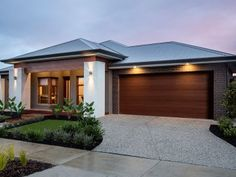 Weeks building group offering unique design and construction for Custom Home Builders Adelaide. Modern Small House Design, House Front Design, My House Plans, Modern House Plans, Modern Bungalow House, Exterior House Colors, Facade House, House Layouts, Home Interior