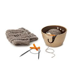 Look what I found at UncommonGoods: Birdie Yarn Bowl Knitting Kit for $85 #uncommongoods