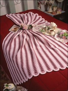 Crochet - Afghan & Throw Patterns - Mile-a-Minute Patterns - Peppermint Tea