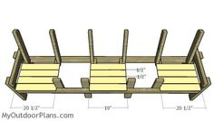 Triple Chair Bench with Table Plans | MyOutdoorPlans | Free Woodworking Plans and Projects, DIY Shed, Wooden Playhouse, Pergola, Bbq