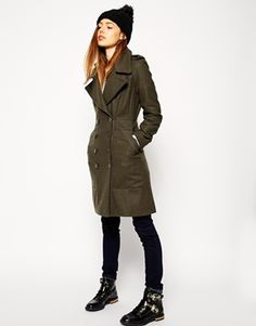 Enlarge ASOS Coat with Military Panel Detail