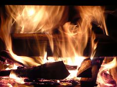 fire place...fire cozy.