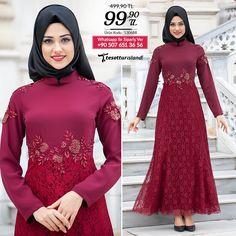 Tesettürlü Abiye Elbiseler - Eteği Dantelli Bordo Abiye #tesettur #tesetturabiye #tesetturgiyim #tesetturelbise #tesetturabiyeelbise #kapalıgiyim #kapalıabiyemodelleri #şıktesetturabiyeelbise #kışlıkgiyim #tunik #tesetturtunik