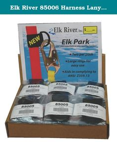 Elk River 85006 Harness Lanyard Park (Pack of Elk River Lanyard parks. Can be added to existing harness. Aids in complying to ANSI Elk River, Safety And Security, Lany, Parks, Packing, Bag Packaging, Parkas