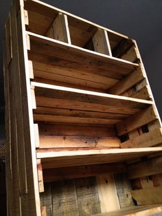 Check out the colors on this bookcase! My friend kevin mccorkle and his beautiful wood work.
