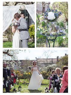 Tournage d'un mariage champêtre chic | amoureux | Créatrice de la robe : Chloé Jaouen pour Mademoiselle de Guise