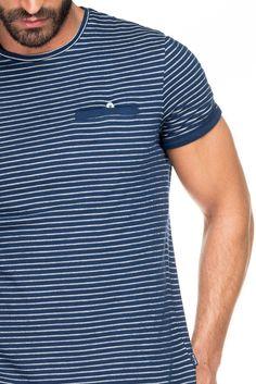 Camiseta hombre regular rayas - Salsa Polo 279924f629b6d