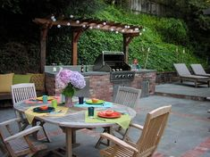 Outdoor Garden Bbq Area Design Ideas, Pictures, Remodel and Decor Outdoor Grill Area, Patio Grill, Outdoor Kitchen Patio, Bbq Area, Backyard Patio, Outdoor Living, Outdoor Kitchens, Outdoor Spaces, Outdoor Grilling