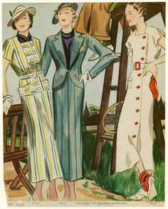 Daywear and sportswear ensembles  May 1935, From Delineator. (New York : Butterick Publishing Co., 1879-1937) .