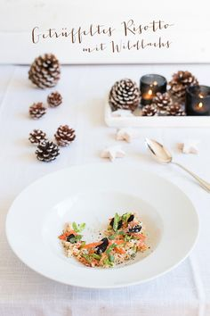 truffle risotto with wild salmon