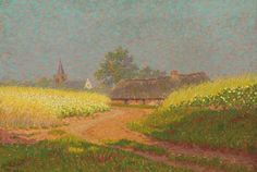 De weg naar het dorp, 38,5 x 53,5 cm, Co Breman, 1906. afbeelding Christie's