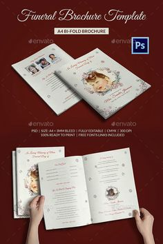 Golden Funeral Program Template  Editable Ms Word Template