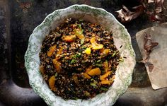 Wild Rice, Farro, and Tangerine Salad | 37 Delicious Vegetarian Recipes For Thanksgiving