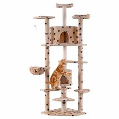 Beige Paws New 80 Cat Tree Condo Furniture Scratch Post Pet House Cat Tree Condo, Cat Condo, Furniture Scratches, Cat Activity, Condo Furniture, Sisal Rope, Cat Scratching Post, Cat Climbing, Animal House