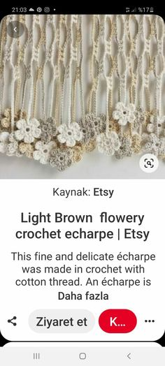 Cotton Thread, Delicate, Brown, Crochet, How To Make, Etsy, Brown Colors, Ganchillo, Crocheting