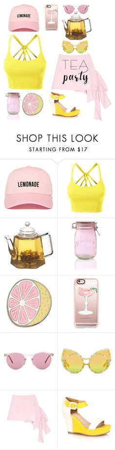 """Pink Lemonade Afternoon Tea Party"" by yours-styling-best-friend ❤ liked on Polyvore featuring interior, interiors, interior design, home, home decor, interior decorating, LE3NO, Kilner, Big Bud Press and Casetify"