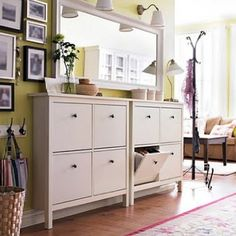 IKEA shoe storage. Who doesn't want a pretty AND functional entryway??