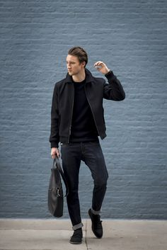 Check out how Marcel of One Dapper Street styles the Armani Exchange Italian Wool Bomber Jacket.