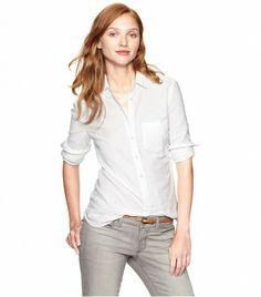 @Who What Wear - Gap Shrunken Boyfriend Shirt ($50)