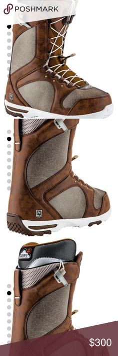 Nitro Monarch TLS Snowboard Boots NEW!! Women's 2017 Monarch Snowboard Boots in Chocolate/ Warm Grey by Nitrousa.com in size 7.5 (25.0) TLS 5 TWIN LACING SYSTEM / CLOUD 3 WOMEN´S LINER/ EVA OUTSOLE/ RUBBER IMPACT PANELS/ DLS LINER LACING Reasonable offers welcomed. Bundle and save! Nitro Shoes