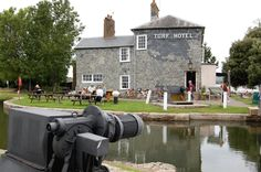 The Turf hotel on the Exe estuary, Devon is a hidden gem of a pub. With no roads you have to cycle, walk or boat it there. Cafe Restaurant, Devon, Britain, Gem, Remote, Restaurants, Road Trip, Places To Visit, Boat