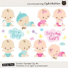 Bebé ducha Clipart Clip arte bebé niño niña gráfico lindo bebé