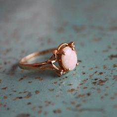 Vintage Opal and 14K Gold Ring - oh god, WAAAANT. $110.
