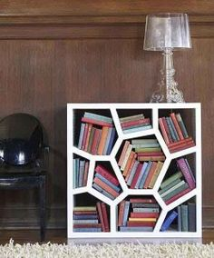 What a cool bookshelf!
