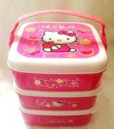 Hello Kitty Lunch Bento Box 3 tray