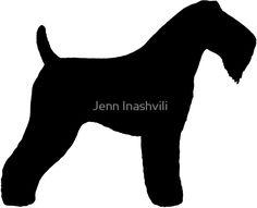 «Kerry Blue Terrier Silhouette(s)» de Jenn Inashvili