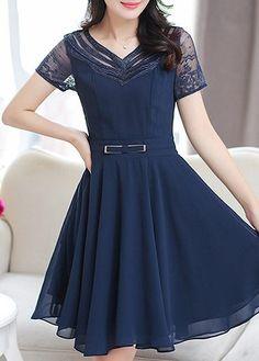 Knee Length Shop Chiffon Dresses For Women Online   LuluGal
