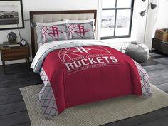 Houston Rockets NBA Reverse Slam Full-Queen Comforter Set. Incudes 2 Shams and Comforter. Visit SportsFansPlus.com for Details.