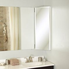 Zenith Products MB36CVBB Designer Series 14x 36 Over the Mirror, Beveled Mirror, Corner Medicine Cabinet2