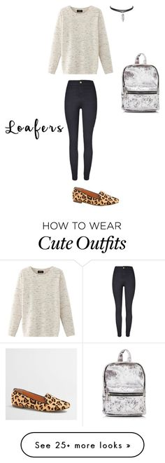 """""""A school outfit with loafers!!! How cute!!!!"""" by siggyannaerickson on Polyvore featuring J.Crew and Nolita"""