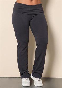 8adcaca7a5 Plus Size Fold Over Yoga Pants  yogapants Tall Yoga Pants