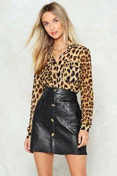 Nasty Gal nastygal In Your Wildest Dreams Leopard Shirt Leopard Print Outfits, Leopard Blazer, Leopard Top, Cheetah Print, Blusas Animal Print, Jeans Petite, Zara, Animal Print Fashion, Shirt Shop