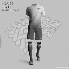 """""""Game of Thrones World Cup Nike Concepts"""" by Nerea Palacios. If the Royal Houses of """"Game of Thrones"""" were soccer clubs they definetly wear this. Soccer Kits, Football Kits, Football Jerseys, Sports Jerseys, Football Stuff, World Cup Kits, Nike World, World Cup Jerseys, Soccer Outfits"""