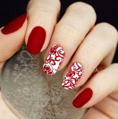50 Red Nails Designs ~ ideamediainspire.com