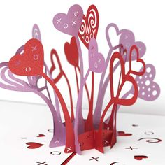 Love Explosion Pop Up Valentine's Day Card