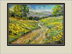 Yellow Hills Original Oil Painting by mgotovac on Etsy